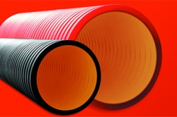 DKC Труба жесткая двустенная для кабельной канализации (10 кПа) D=125мм, длина 5,70м. арт. 16091257