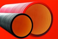 DKC Труба жесткая двустенная для кабельной канализации (6кПа) D=200мм, длина  5,70м. арт. 160920-6K57