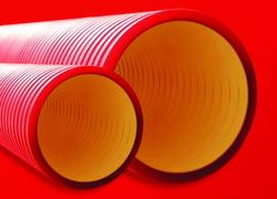 DKC Труба жесткая двустенная для кабельной канализации (6кПа) D=200мм, цвет черный арт. 160920A-6K