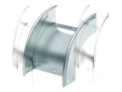 DKC Угол CD 90 вертикальный внеш. 90° 600/80, горячеоцинкованный арт. 36808HDZ