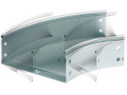 DKC Угол метал. CPO 45 плоский 45° 400x100мм арт. 36105
