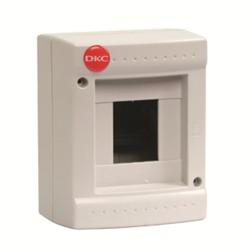 DKC щиток настенный, серый, без крышки, 4 мод., RAL 7035 арт. 82004
