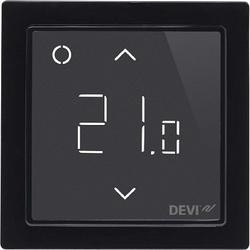 Devi Smart Черный Терморегулятор интеллектуальный с Wi-Fi, 16А арт. 140F1143