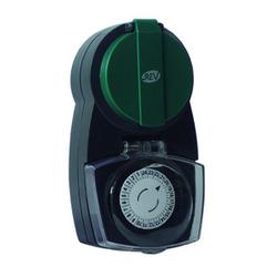 Duewi Розетка влагозащ. с электромех. таймером/ 96 прог. шаг 15 минут 16А, 250V IP44 арт. DW 5357 (66988 9)