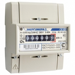 Энергомера счетчик СЕ101 R5 148 М6 1Ф 1Т 10-100А арт. 101001003007807