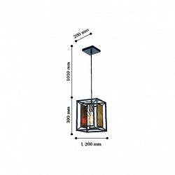 Favourite Dual Люстра подвесная черный цвет каркаса с декоративной решеткой золотого цвета, стекло с эффектом струящейся воды, регулируемая длина пров арт. 2083-1P