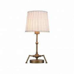 Favourite Gambas Светильник настольный металл окрашен в античный бронзовый цвет, плафон тканевый 1*E27*60W арт. 2030-1T