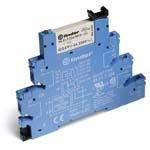 Finder Интерфейсный модуль реле, винт. клеммы, контакты AgNi, 1 группа конт.6A, 230-240V AC/DC арт. 385102400060