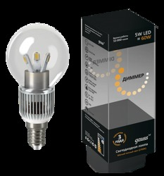Gauss Лампа LED G40 E14 5W 2700K DIMM арт. HA105201105-D