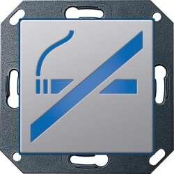 Gira E22 Алюминий Указатель светодиодный с пиктограммой Курить запрещено арт. 2799203
