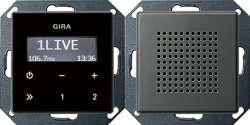 Gira E22 Сталь Радио скрытого монтажа арт. 228020