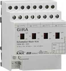 Gira KNX Актор 4-канальный 16 А, возм ручное управление DIN-рейка арт. 100400