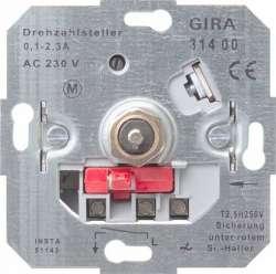 Gira Мех Регулятор частоты вращения электродвигателей поворотный 0,1-2,3 А арт. 031400
