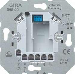 Gira Мех Вставка управления жалюзи электронная (макс 1000 ВА) 4-х пров подкл, возм доп управл арт. 039800