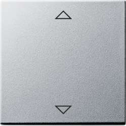 Gira S-55 Алюминий Накладка сенсорного выключателя жалюзийного, с функцией памяти арт. 082226