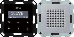 Gira S-55 Алюминий Радиоприемник скрытого монтажа с функцией RDS арт. 228026