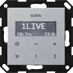 Gira S-55 Алюминий Радиоприемник скрытого монтажа с функцией RDS без громкоговорителя арт. 228426