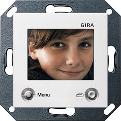 Gira S-55 Бел глянц ЖКИ-дисплей цветной для внутренней квартирной станции скрытого монтажа арт. 128603