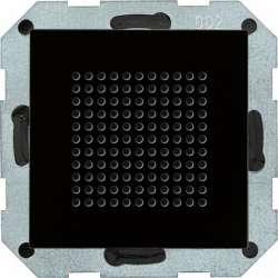 Gira S-55 Черное стекло Динамик для радиоприемника скрытого монтажа с функцией RDS арт. 228205