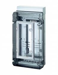 Hensel KV Бокс прозр. дверь с пломб, DIN-рейка IP65 (295х583х182) с доп.дверцей арт. 6100102