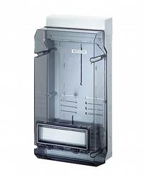Hensel KV Бокс прозр. дверь с пломб 12 мод., DIN-рейка IP65(295х583х182) арт. 6100103