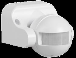 IEK Датчик движения ДД 009 белый, макс. нагрузка 1100Вт, угол обзора 180град., дальность 12м, IP44 арт. LDD10-009-1100-001