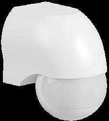 IEK Датчик движения ДД 010 белый, макс. нагрузка 1100Вт, угол обзора 180град., дальность 10м, IP44 арт. LDD10-010-1100-001
