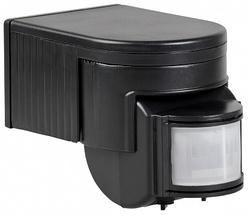 IEK Датчик движения ДД 012 черный, макс. нагрузка 1100Вт, угол обзора 180град., дальность 12м, IP44 арт. LDD10-012-1100-002