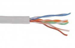 IEK ITK Кабель связи витая пара F/UTP, кат.5E 4x2х24AWG solid, PVC, 305м, серый арт. LC1-C5E04-311