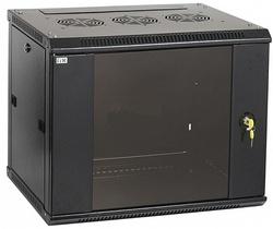 IEK ITK Шкаф LINEA W 12U 600x600 мм дверь стекло, RAL9005 арт. LWR5-12U66-GF
