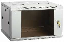 IEK ITK Шкаф LINEA W 15U 600x600 мм дверь стекло, RAL7035 арт. LWR3-15U66-GF