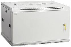 IEK ITK Шкаф LINEA W 6U 600x450 мм дверь металл, RAL7035 арт. LWR3-06U64-MF