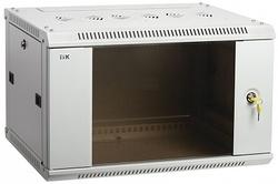 IEK ITK Шкаф LINEA W 9U 600x450 мм дверь стекло, RAL7035 арт. LWR3-09U64-GF