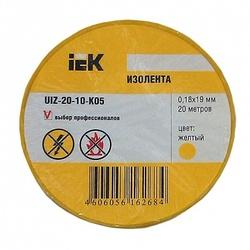 IEK Изолента 0,18х19 мм желтая 20 метров арт. UIZ-20-10-K05