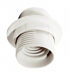 IEK Ппл27-04-К12 Патрон пластик с кольцом, Е27, белый (50 шт), стикер на изделии арт. EPP11-04-01-K01