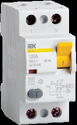 IEK Выключатель дифференциальный УЗО ВД1-63 2Р 25А 10мА тип А арт. MDV11-2-025-010