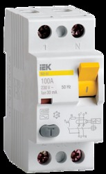 IEK Выключатель дифференциальный ВД1-63 (УЗО) 2Р 63А 300мА арт. MDV10-2-063-300
