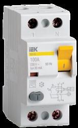 IEK Выключатель дифференциальный ВД1-63 (УЗО) 2Р 80А 30мА арт. MDV10-2-080-030