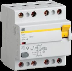 IEK Выключатель дифференциальный ВД1-63 (УЗО) 4Р 25А 300мА арт. MDV10-4-025-300