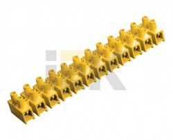 IEK Зажим винтовой ЗВИ-10 н/г 2,5-6мм2 12пар желтые арт. UZV7-010-06