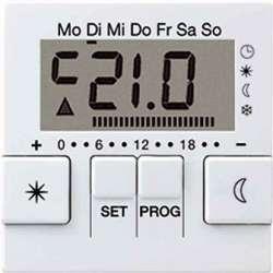 JUNG A 500 АлюминийДисплей термостата с таймером(мех. UT238E) арт. AUT238DAL