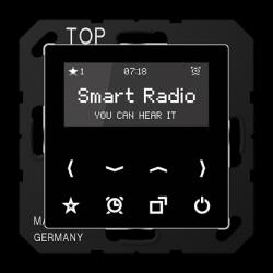JUNG A 500 ЧерныйСтерео-радиоприемник скрытой установки с RDS арт. RADA508SW