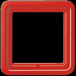 JUNG CD 500Красный Рамка 1-я для клавиши 561 арт. CD581GLRT