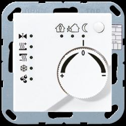 JUNG KNX Белый Регулятор климата с ручкой для установки температуры арт. A2178TSWW
