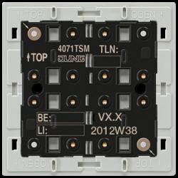 JUNG KNX Кнопочный модуль с интегрированным шинным сопряжением Стандарт 1-4 группы арт. 4071TSM