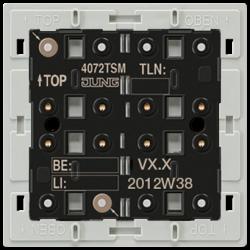 JUNG KNX Кнопочный модуль с интегрированным шинным сопряжением Стандарт 1-4 группы арт. 4072TSM