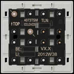 JUNG KNX Кнопочный модуль с интегрированным шинным сопряжением Стандарт 1-4 группы арт. 4073TSM