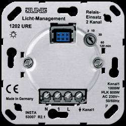 JUNG Мех Электронный выключатель 2-канальный(необходима нейтраль) арт. 1202URE