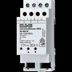 JUNG Мех Универсальный светорегулятор на DIN-рейку 50-500W/VA арт. UD1255REG