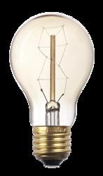 Jazzway Лампа накаливания RETRO A60 GOLD 40W E27 арт. .2858269